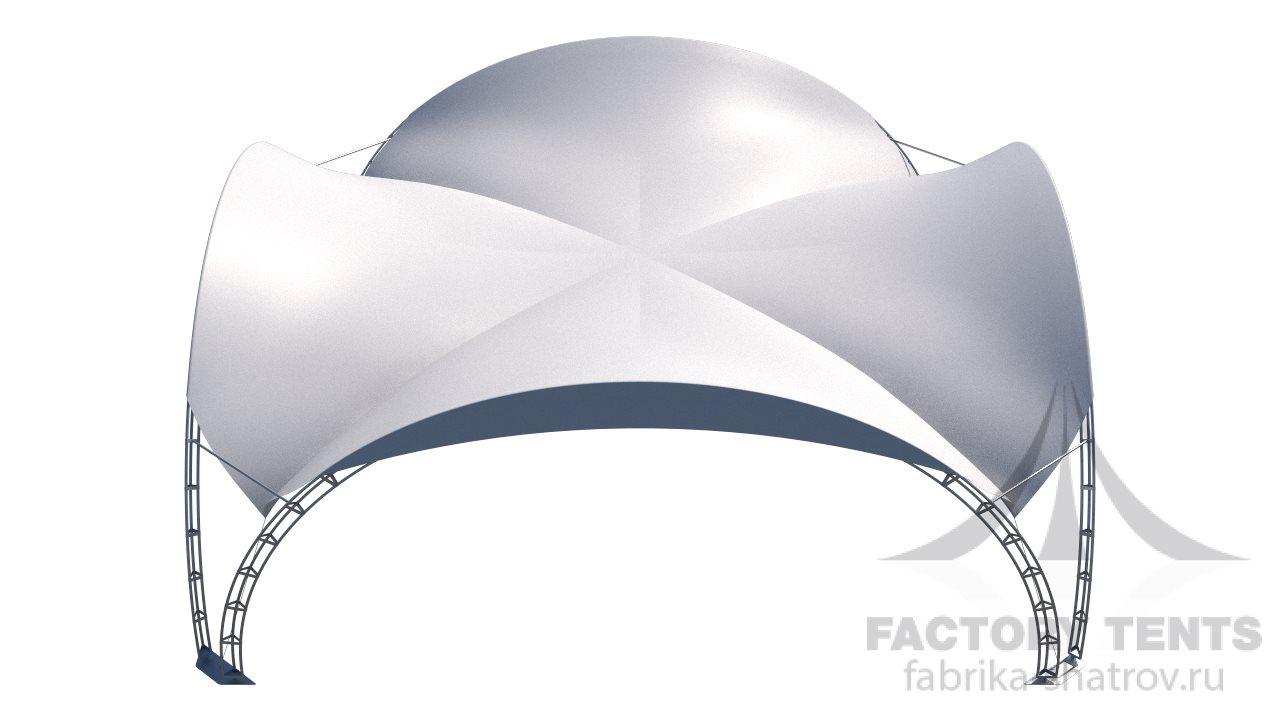 Арочный шатер Клевер 8*8 м, компании Фабрика Шатров, Россия