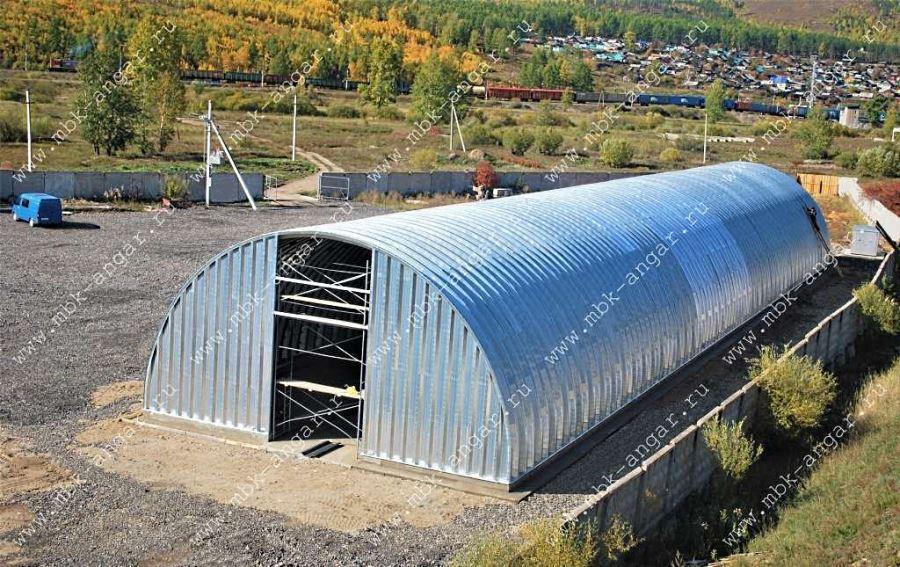 Бескаркасный мобильный арочный ангар 50х10 м, компания Мобильные Бескаркасные Конструкции, Россия