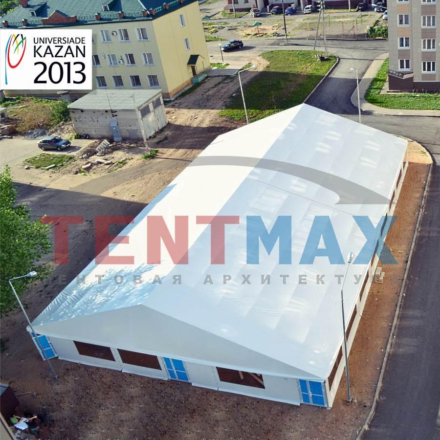 Большой каркасно-тентовый павильон 40х20х5 м, компания TENTMAX, Россия