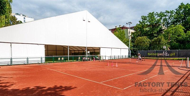 Большой шатер для теннисных кортов