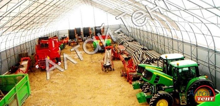 Большой тентовый ангар для тракторов и оборудования