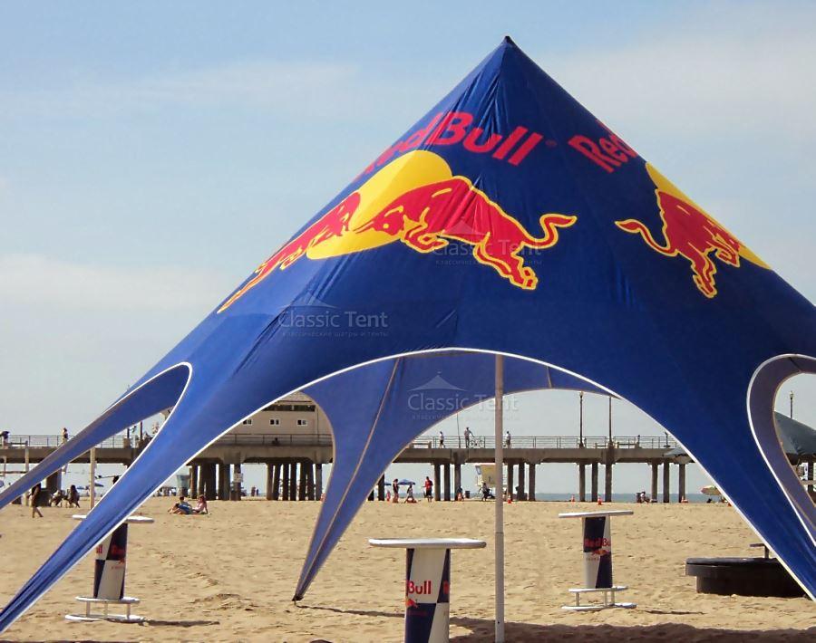 Брендированный шатер-тент Звезда на пляже