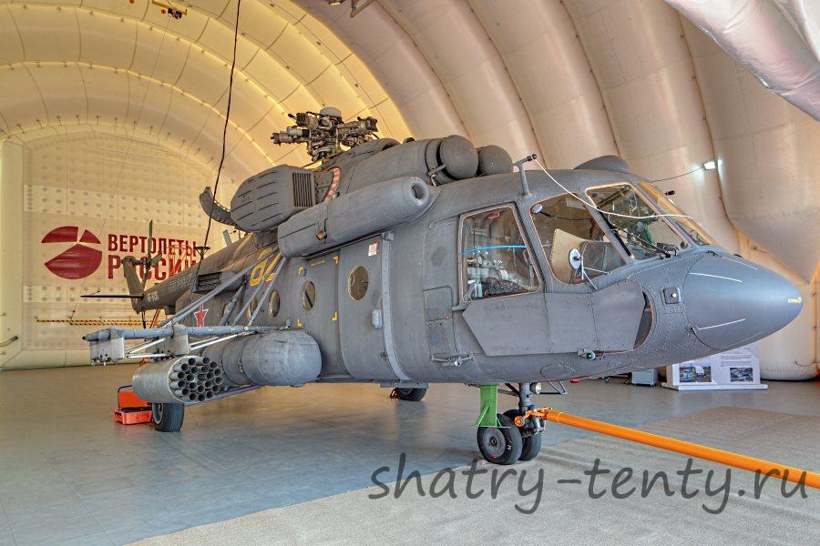 Большой ангар для вертолетов