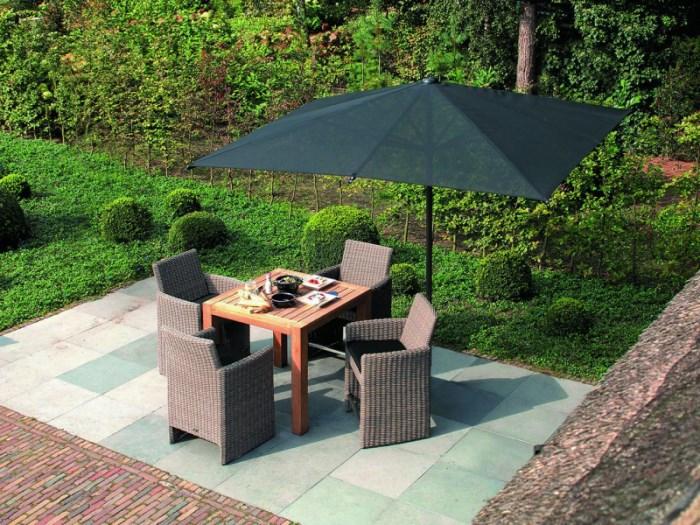 Черный прямугольный зонт 7х3,5 «Reflex Telescopic Alluminio»