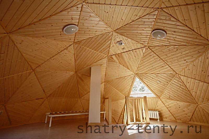 Деревянный дом сфера вид внутри