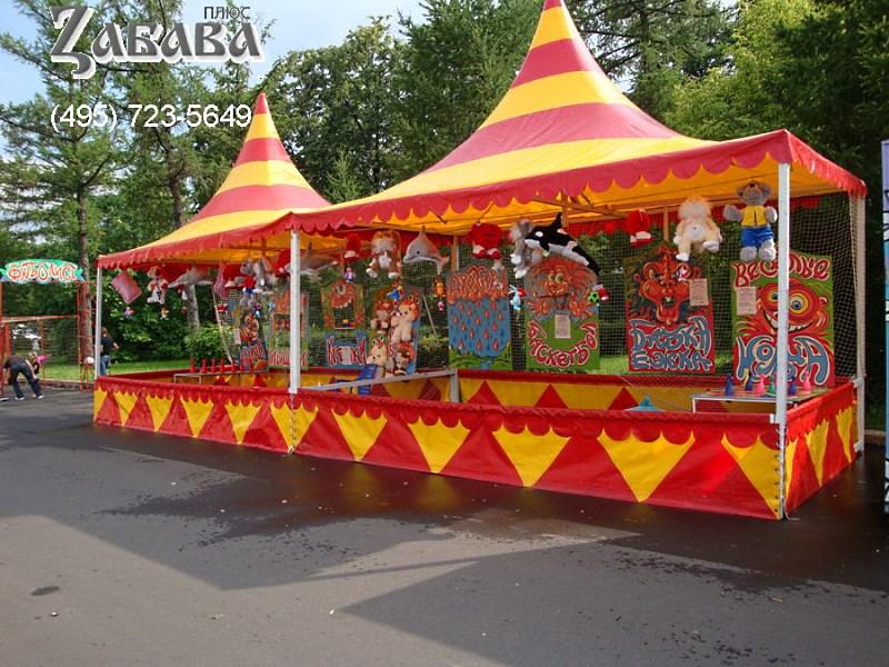 Детский аттракцион Забава в двух мобильных шатрах