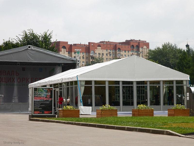 Дополнительный демонстрационный павильон при стационарном выставочном комплексе