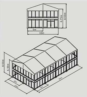 Двухэтажный шатер 10х20 м схема с размерами
