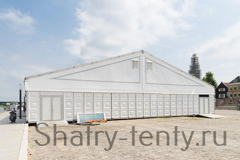 Двухскатный шатер со стенами из сендвич панелей