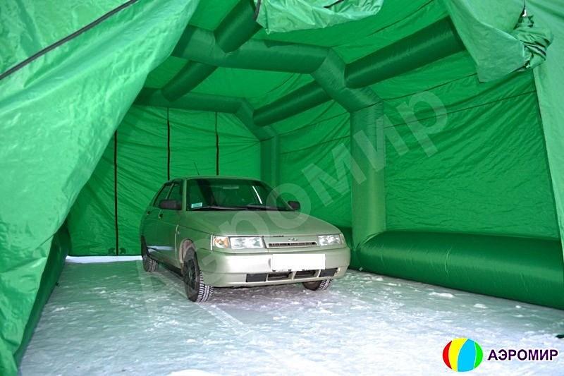 Гараж для автомобиля в небольшом надувном ангаре ВС-1