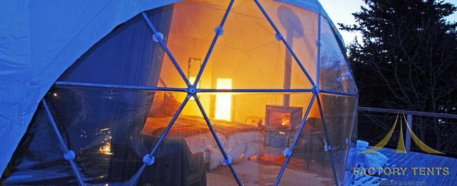 Гостевой купольный дом в сферическом шатре