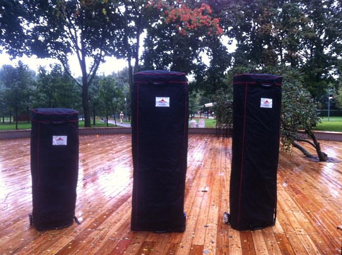 Хранение и транспортировка мобильных шатров