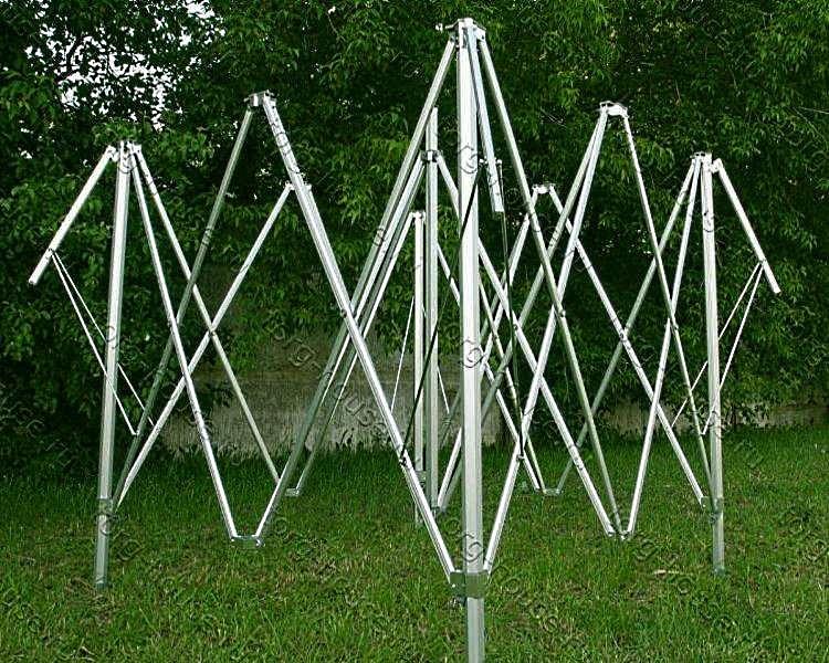 Каркас гармошка шатра Гиза Гарден 3х4,5 м