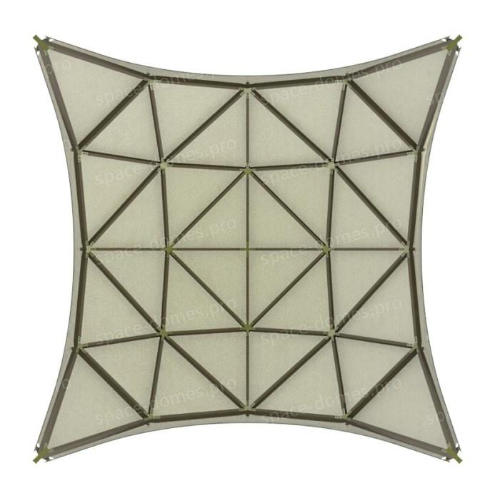 Каркасно-тентовая квадросфера проекция сверху
