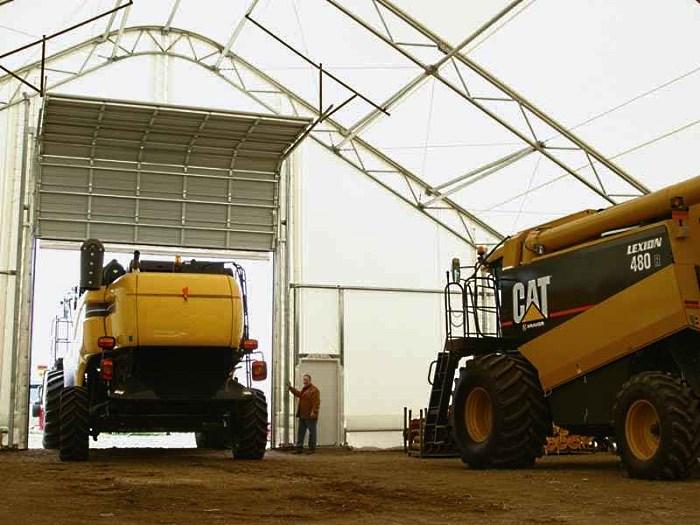 Тентовый ангар-гараж для сельхозтехники