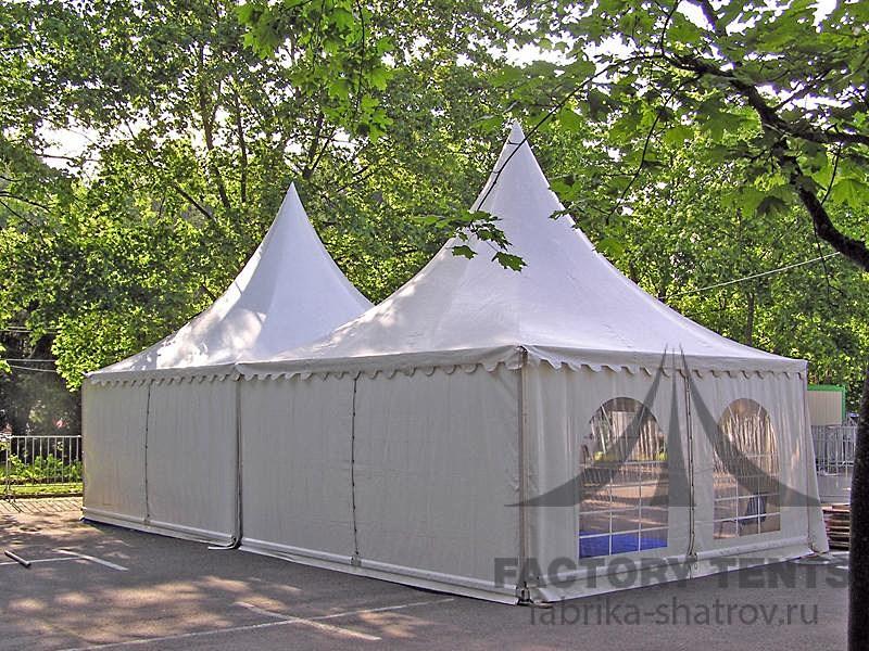 Каскад из двух шатров пагода для передвижного тира