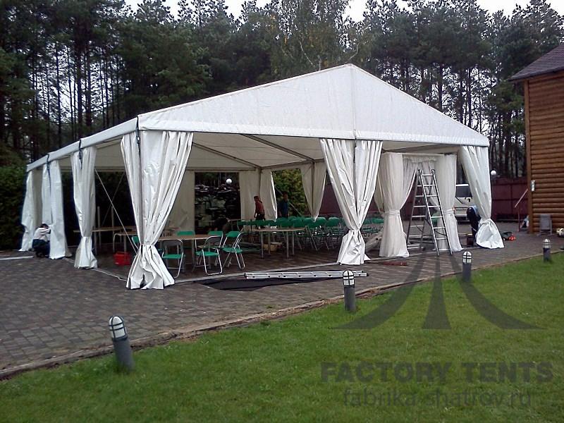 Классический шатре 10х10 м для дома