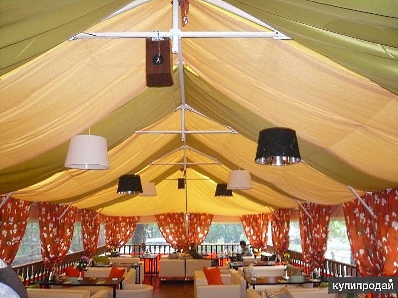 Летнее кафе в шатре - это отрасль малого бизнеса