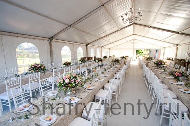 Классический шатер для свадьбы