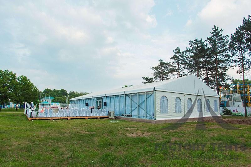 Классический шатер 10х20 м для организации мероприятия в формате open-air
