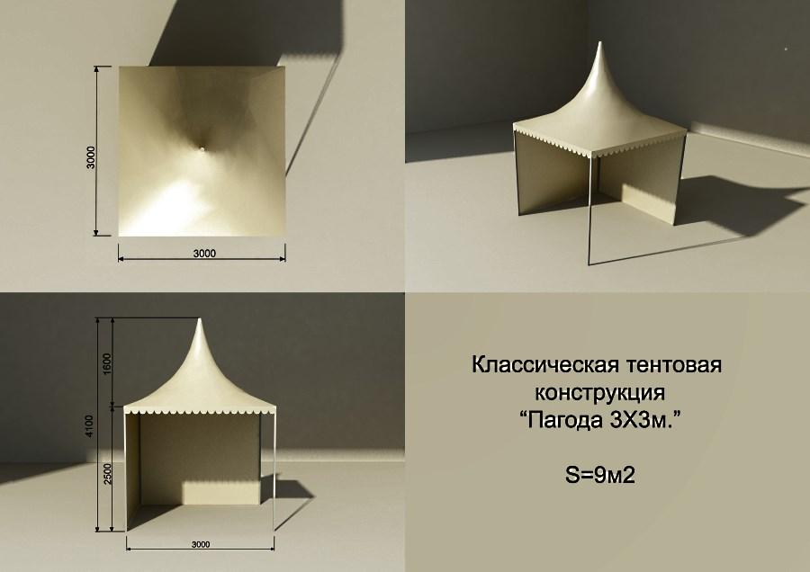 Шатер «Классика тент» Производитель: «ВИП Тент» (Россия)