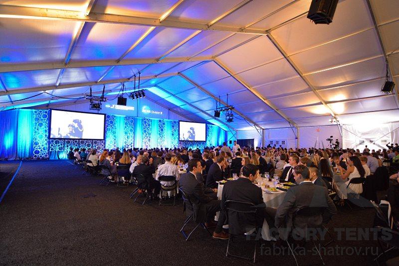 Конференция на 150 человек в арочном ангаре