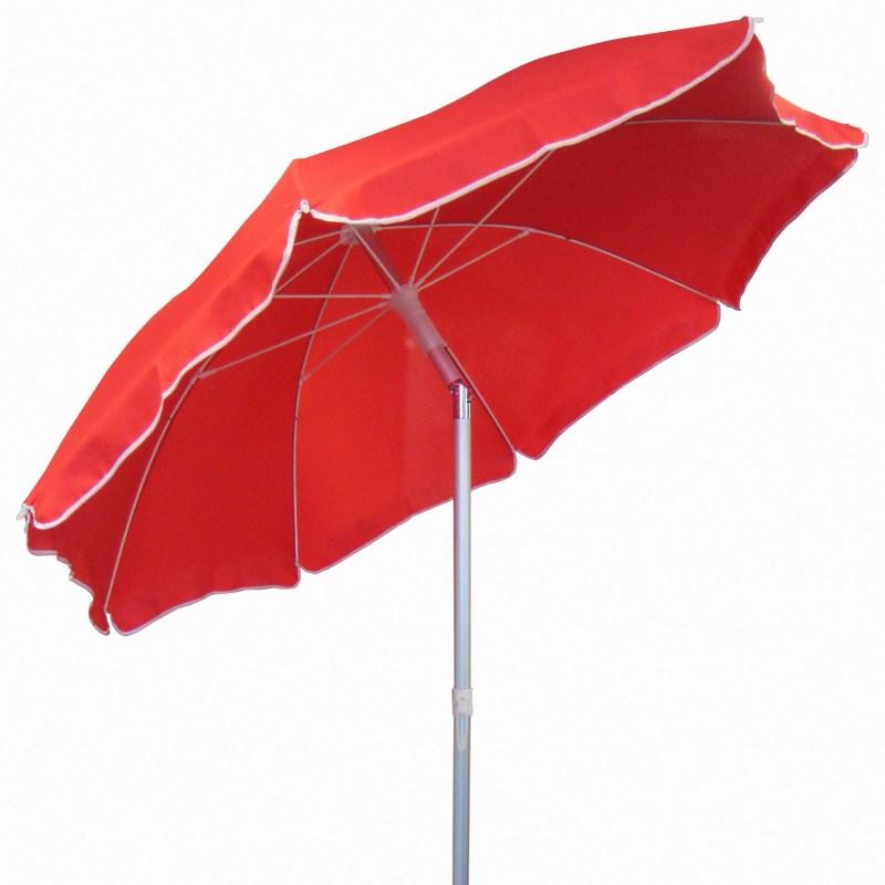 Круглый красный зонт 4villa 2,2м