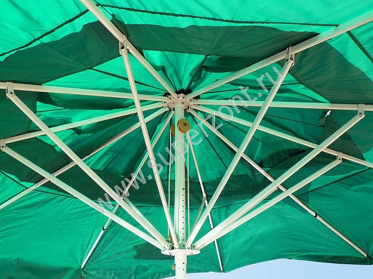 Зеленый уличный зонт - круглый