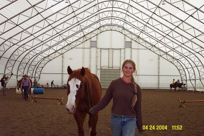 Крытый тентовый манеж для занятия конным спортом круглый год