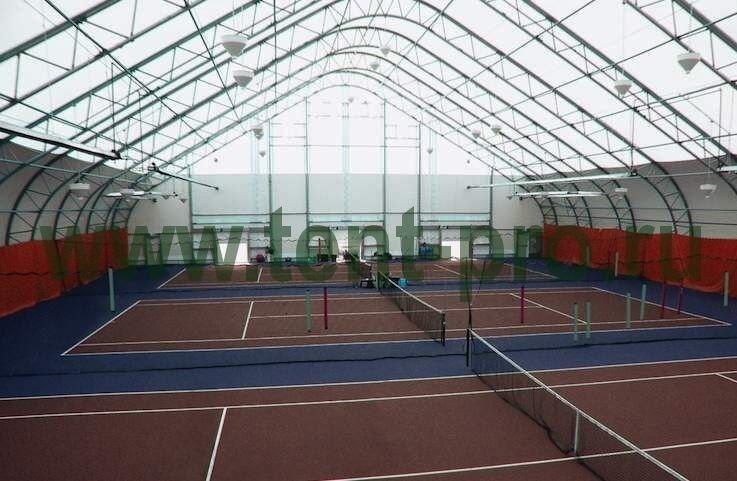 Крытый тентовый шатер для теннисных кортов