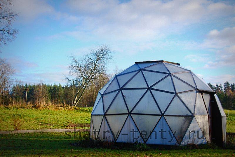 Купольный дом сфера из тента
