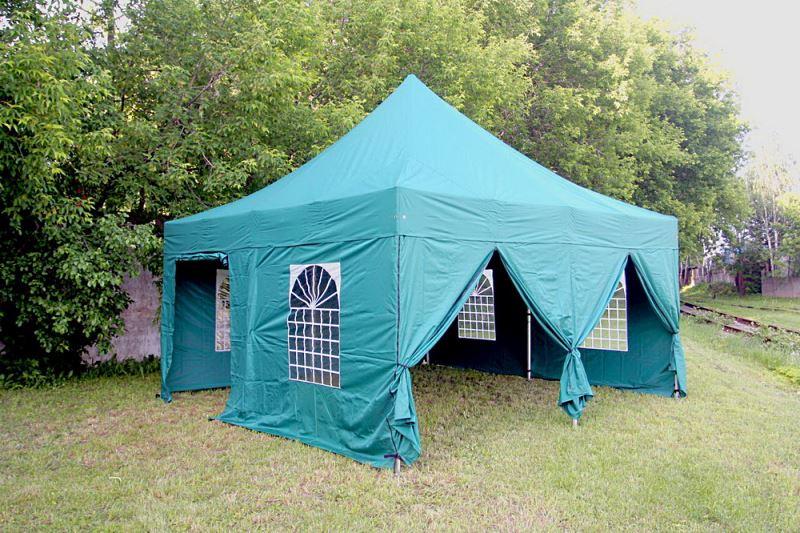 Зеленый шатер Пагода 5х5 со стенками