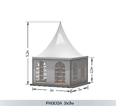 Квадратный шатер типа Пагода