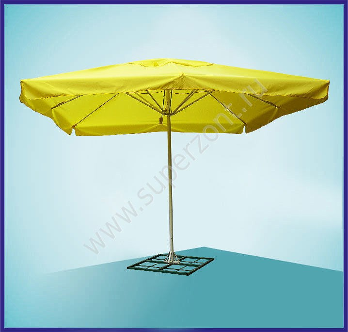 Квадратный желтый зонт 3х3