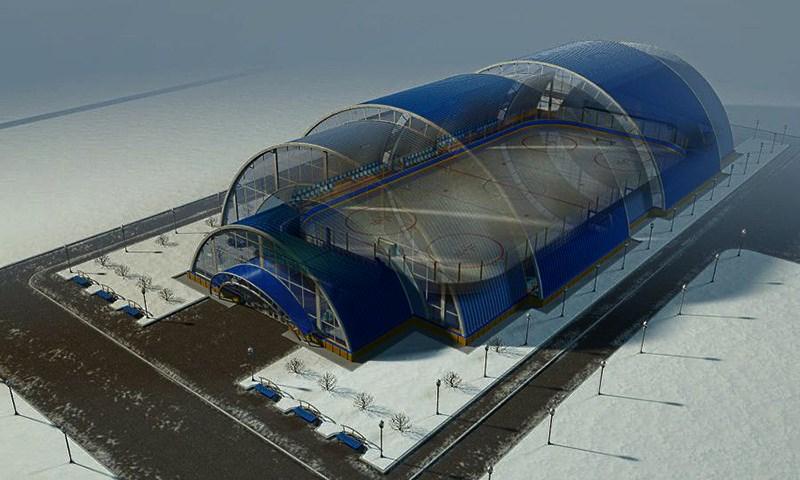 Ледовый спортивный комплекс в тентовом ангаре