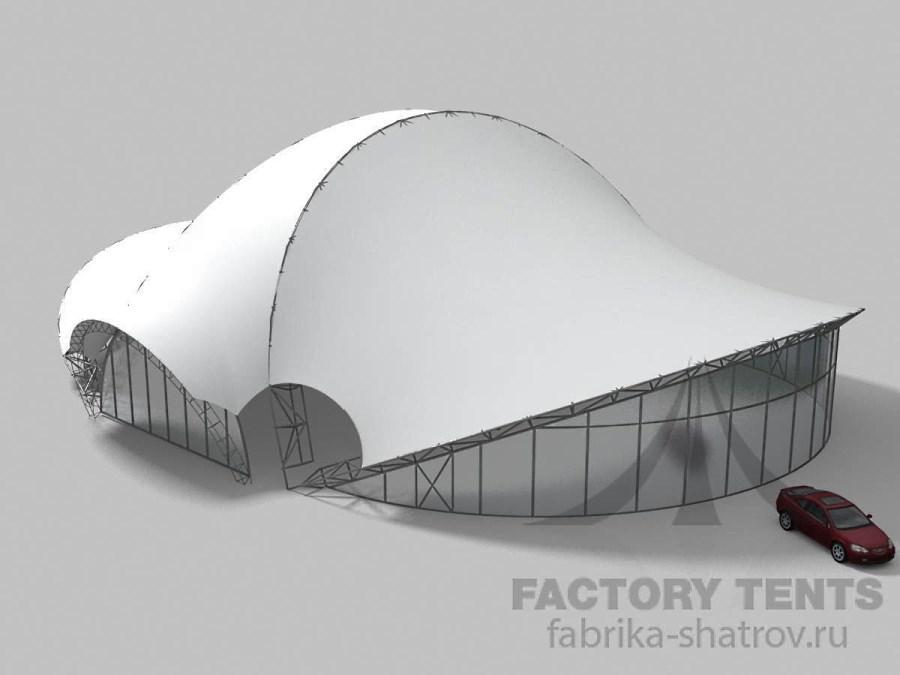 МЕМБРАННЫЙ ШАТЕР 43*33 - 1367 М² Производитель: «Фабрика шатров» (Россия)