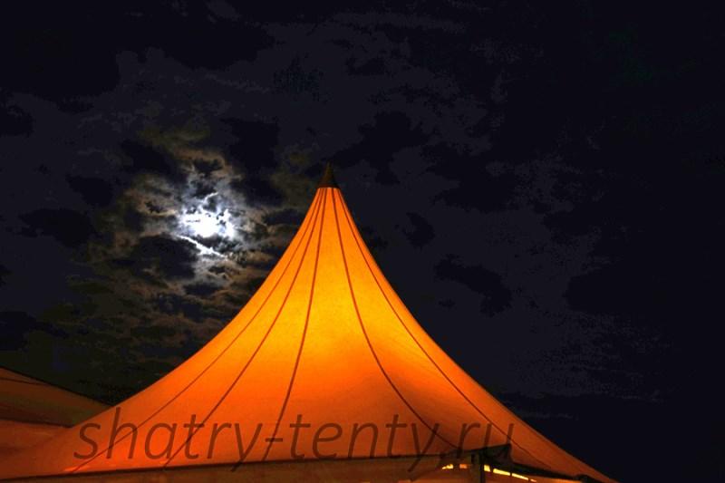 Мембранный шатер на придомовой или дачной территории