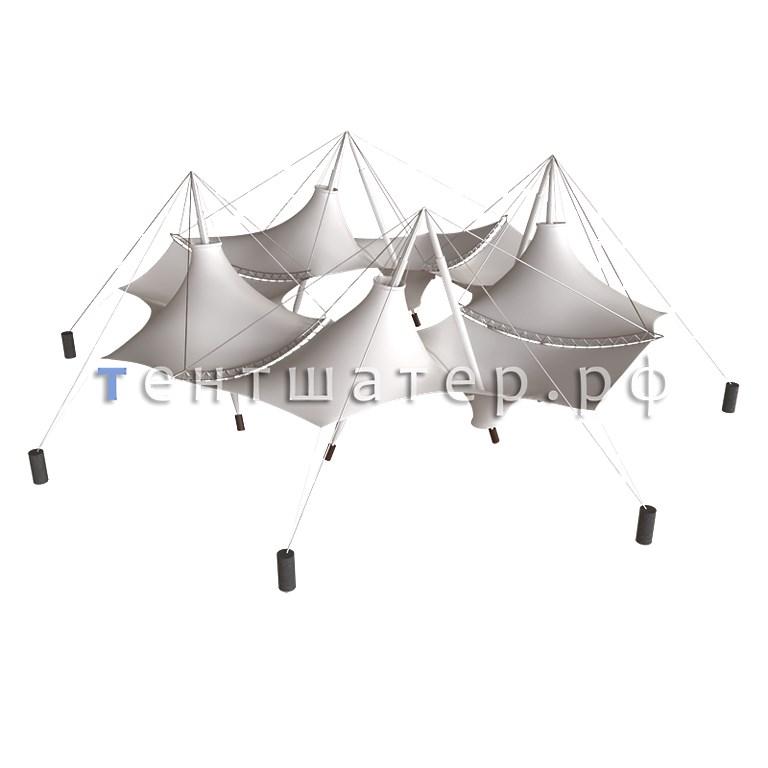 «Мембранный шатер» Тентшатер - схема
