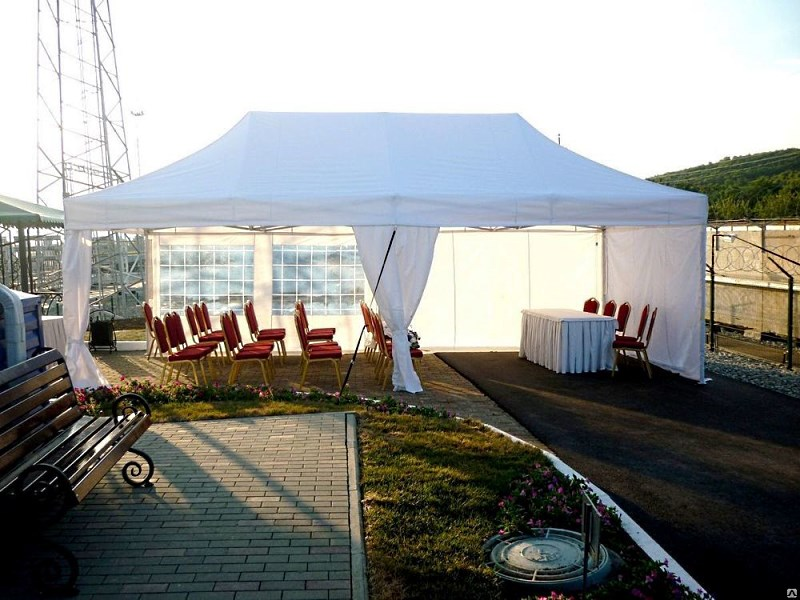 Конференция на открытом воздухе в мобильном шатре 4х8 м