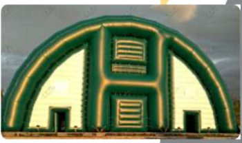 Надувной ангар-павильон 24х55х12 м, компания Росангар, Россия