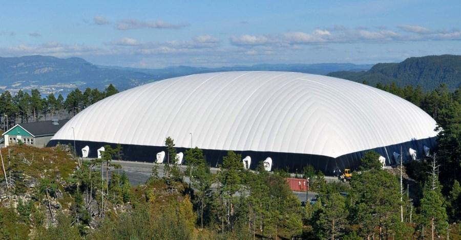 Надувной купол для теннисного корта