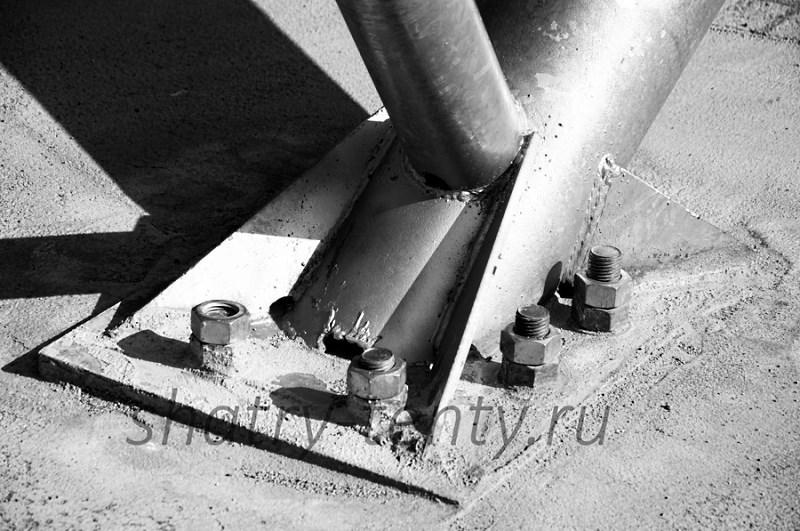 Опорные фланцы – металлические «башмаки» (закладные детали) применяются для закрепления на площадке