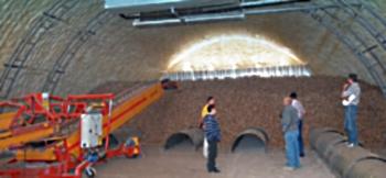 Овощехранилище в металлическом ангаре