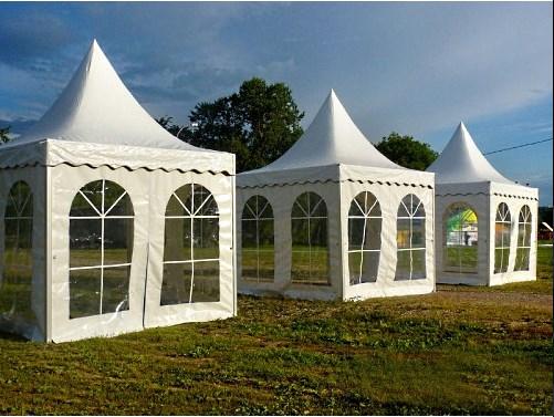 Квадратные шатры Пагода 2х2 в ряд
