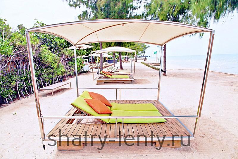 Пергола для отдыха на пляже