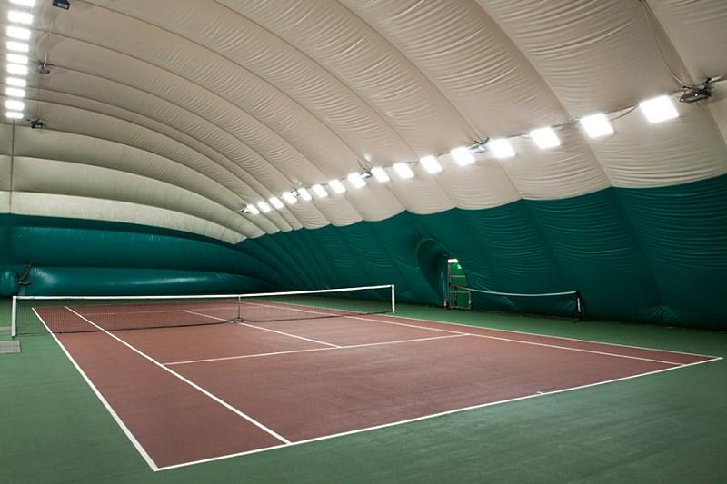 Пневмокаркасный ангар для теннисного корта