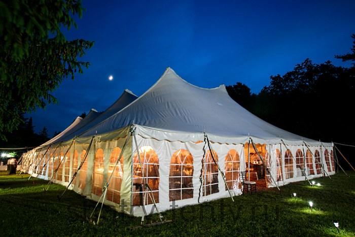 Проведение мероприятия в шатре на газоне