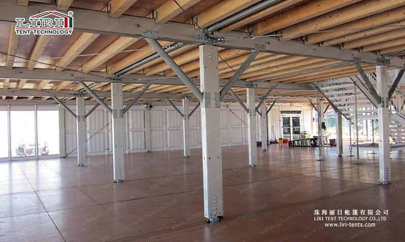 Прямоугольный двухэтажный шатер DDS А - образной крышей
