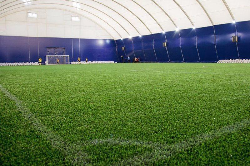 Прямоугольный манеж для мини-футбола 25х45м