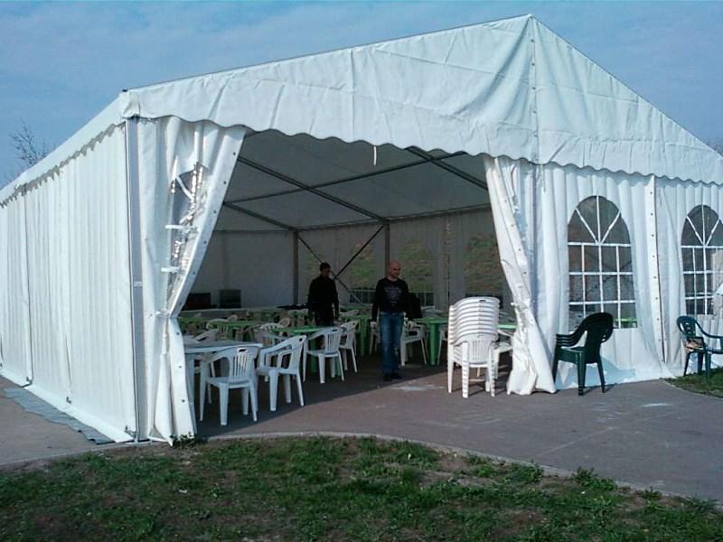 Прямоугольный шатер на 50 человек